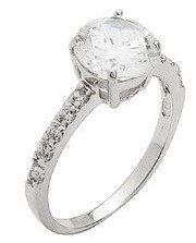 8mm Round CZ Solitaire Ring (SGRW457)