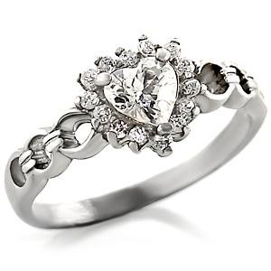 Clear CZ Heart Ring (A40017)