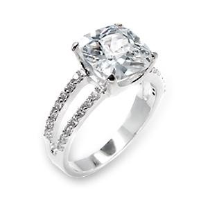 10mm Square CZ Ring (A6X202)