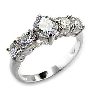 Clear CZ Anniversary Ring (A61101)