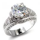 8.5mm Round CZ Solitaire Ring (A7X261)