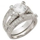 Wedding Set w/ Round 4 Prong CZ (SGRS046)