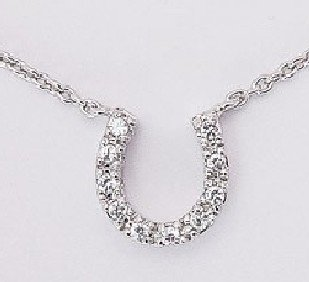 Large Horseshoe Necklace (SV-PCZ033)