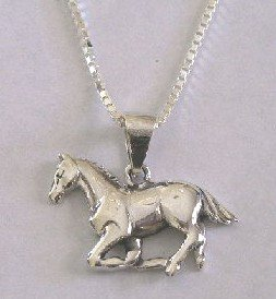 Galloping Horse Necklace (PCH-2379)