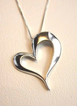 Large Open Heart Pendant (1991-PSCH)