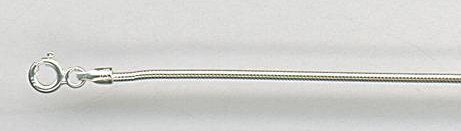"""Sterling Silver Round Snake Chain - 20"""" (SCNR-20)"""