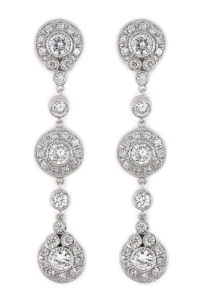 Elegant Round Dangling Earrings (SECZ433)