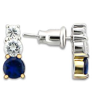 2 Tone Montana Blue Earrings (A33212)