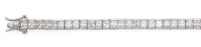 Princess Cut Tennis Bracelet (SV-B-C)