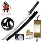 "Okinawa Hand-Forged Ryumon 42"" Samurai Sword with Scabbard Collectible"