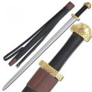 """9Th Century Viking Handcrafted 38"""" Sword with Scabbard Celtic Collectible"""