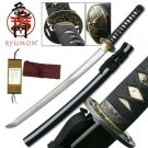 "Suishinshi Ryumon Hand Forged Samurai 33"" Sword with Scabbard Collectible"