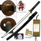 "Ryumon Hand Forged  Samurai 41"" Sword with Scabbard Collectible"