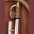 """US Civil War Replica Confederate Cavalry Officer's 40"""" Saber Sword with Scabbard"""