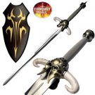"""Viking Sword 44"""" Warrior Battle Stainless Steel Blade with Plaque Collectible"""