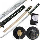 "Fudo Myoo Japanese Ancient Warrior Hand-Forged 41"" Sword w/ Scabbard Collectible"
