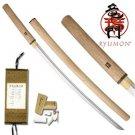 """Ryumon Hand Forged Samurai 41"""" Shirasaya Sword with Scabbard Collectible"""