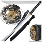 "Circle of Dragons Samurai Japanese Katana 42"" Sword with Scabbard Collectible"
