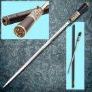 """Antique Victorian 37"""" Replica Sword Cane Collectible"""