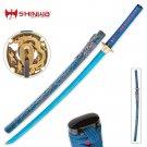 """Shinwa Lazuli 40"""" Samurai Dragon Katana Battle Ready Sword with Scabbard"""