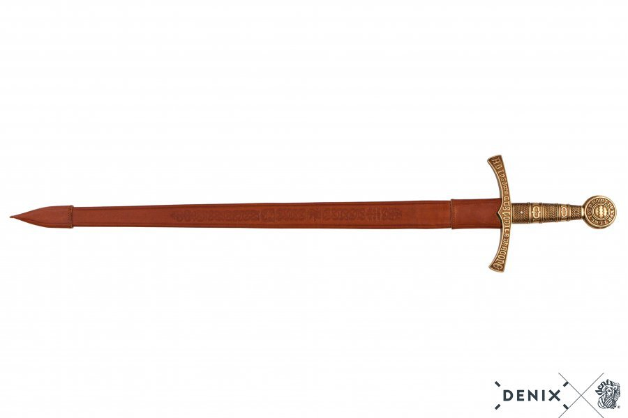 """1300s French Dragoon Medieval 43"""" Sword with Scabbard by Denix of Spain"""