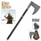 LOTR Axe of Gimli with Plaque United Cutlery Officially Licensed