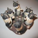 Continental Creations: Black & Tan Cat Candle Holder