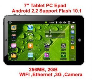 7 inch android 2.2 tablet pc VIA8650 MID support Flash 10