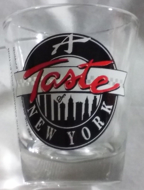 New York Souvenir Shot Glass Shotglasses A Taste of New York