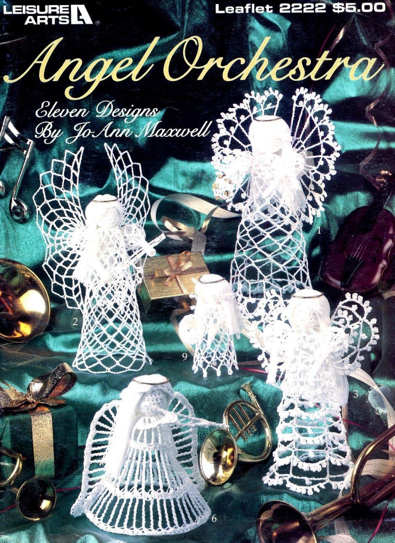 Angel Orchestra 11 Designs Crochet Patterns  LA 2222 Jo Ann Maxwell