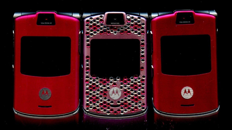 3 Vintage Motorola Razr V3 Razor Flip Phones T Mobile