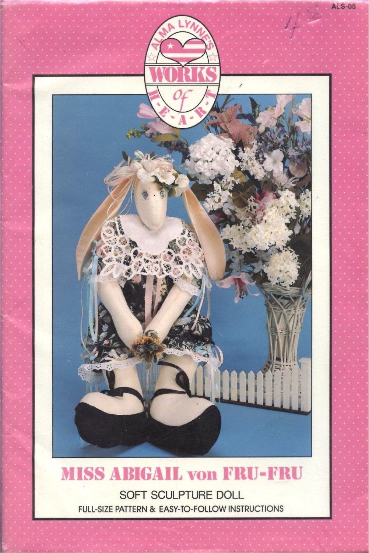 Alma Lynne's Works of Heart Soft Sculpture Doll & clothes Miss Abigail von Fru
