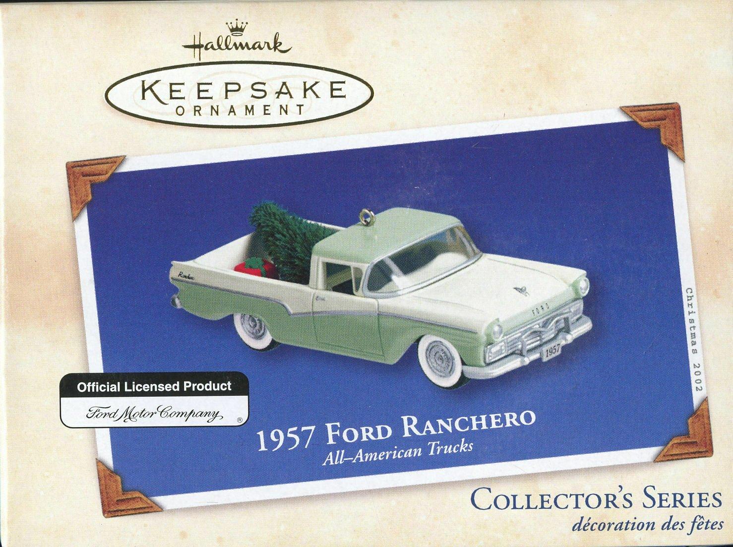 2002 Hallmark Ornament 1957 Ford Ranchero - All American Trucks Series #8