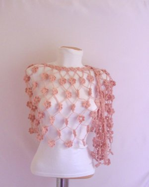 reams Pale Pink Shawl Pansy Romantic handmade gift flower wedding
