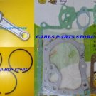 HONDA G300 PISTON RINGS CONROD & GASKET SET
