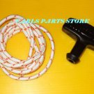 PULL ROPE START CORD & HANDLE FITS HONDA, ARIENS, ATCO, FLYMO, ECHO  LAWNMOWERS