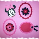 Handmade Scrapbooking Embellishments Minnie Mouse Theme