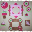 Handmade Scrapbooking Embellishments All Things Sweet and Treats Theme FREE SHIPPING