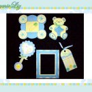 Handmade Scrapbooking Embellishments Baby Boy Theme FREE SHIPPING