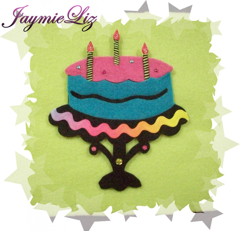 Handmade Scrapooking Embellishment Felt Cake FREE SHIPPING