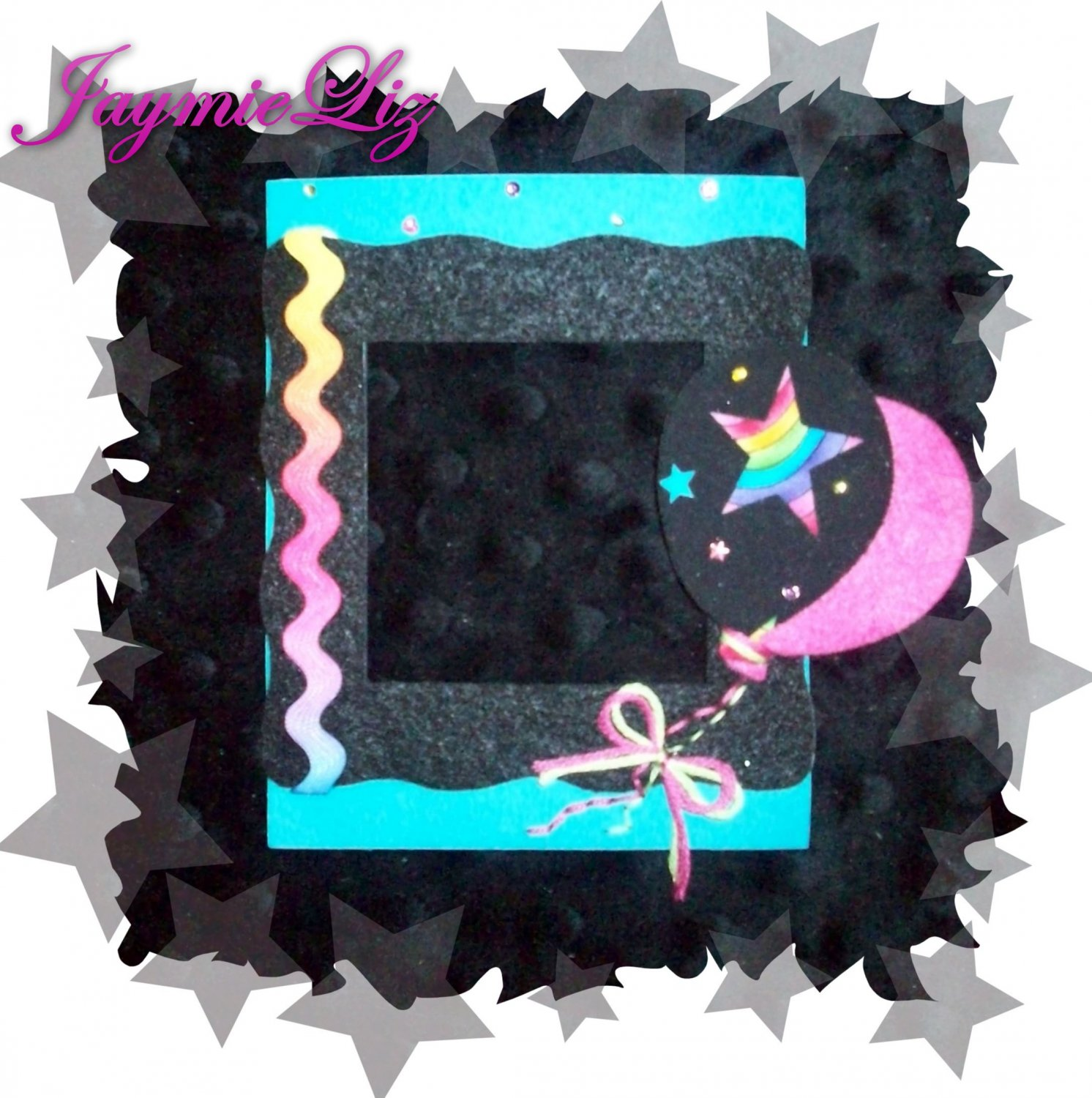 Handmade Scrapooking Embellishment Fabric and Felt Balloons Frame FREE SHIPPING