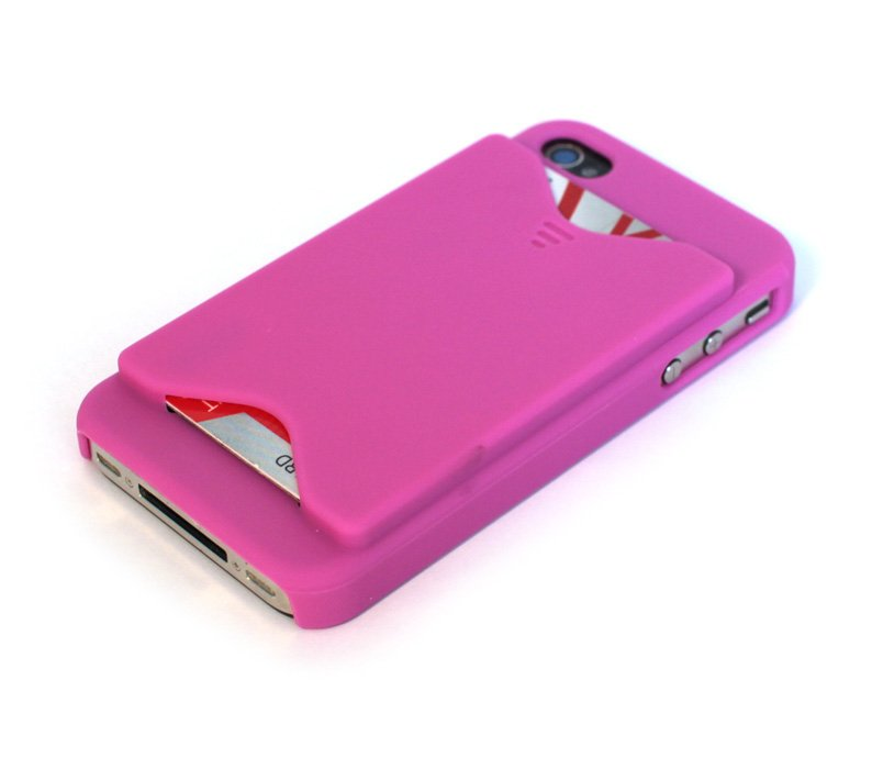 iPhone 4S Credit Card Case - Mulberry Pink