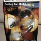 Feit Electric 40W A15 Clear Ceiling Fan Bulbs W/ Candelabra Base 2 Pack #BP40A15