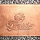 Genuine Leather Miami Dolphins Checkbook Cover #2