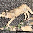 Trippies LLC Timber Wolf Resin Sculpture #BA4031