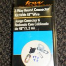 "Reese Tow Power 6 Way Round Connector Kit With 48"" Wire #74608"