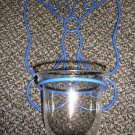 Illuminations Handcrafted Metalworks Butterfly Wire & Glass Candle Holder#3042BL