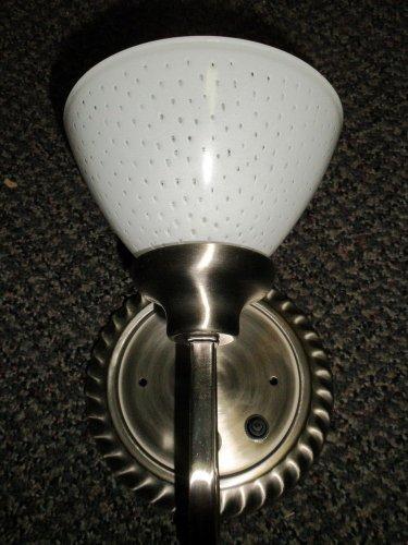 Optronics Brushed Nickel 12 Volt Wall Light W/ Gustafuson 9090 Globe #DC11BN07
