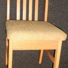 Custom Woods Mfg. Oak Dinette Slat Back Posh Seat Storage Chair- Mulberry #35982