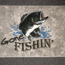 "Welcome Matt - Gone Fishin'  Heirloom Color Rectangle  27"" W X 18"" L"